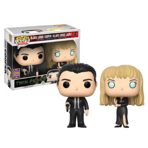 Agent Cooper and Laura Palmer SDCC Funko Pop