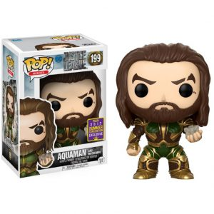 Aquaman and Mother Box SDCC Funko Pop