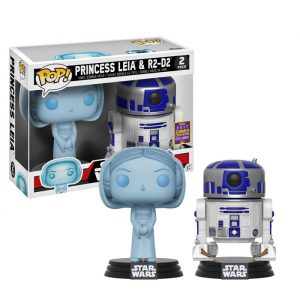 Leia and R2D2 SDCC Funko Pop