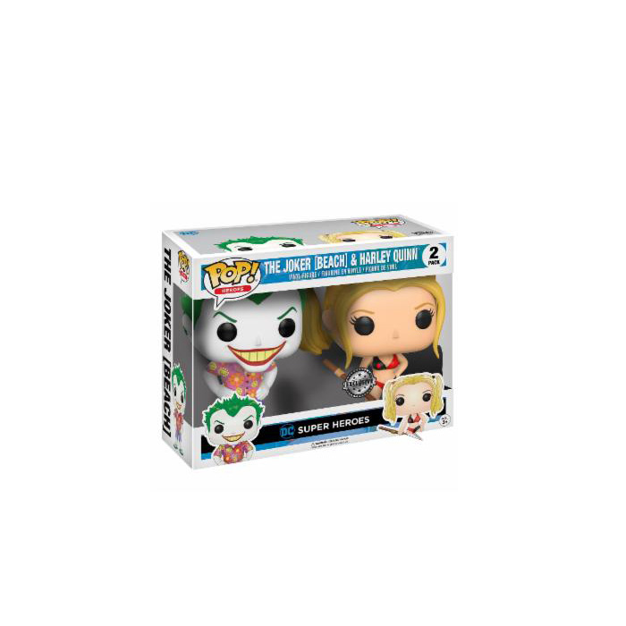 The Joker and Harley Quinn Beach 2pack Funko Pop