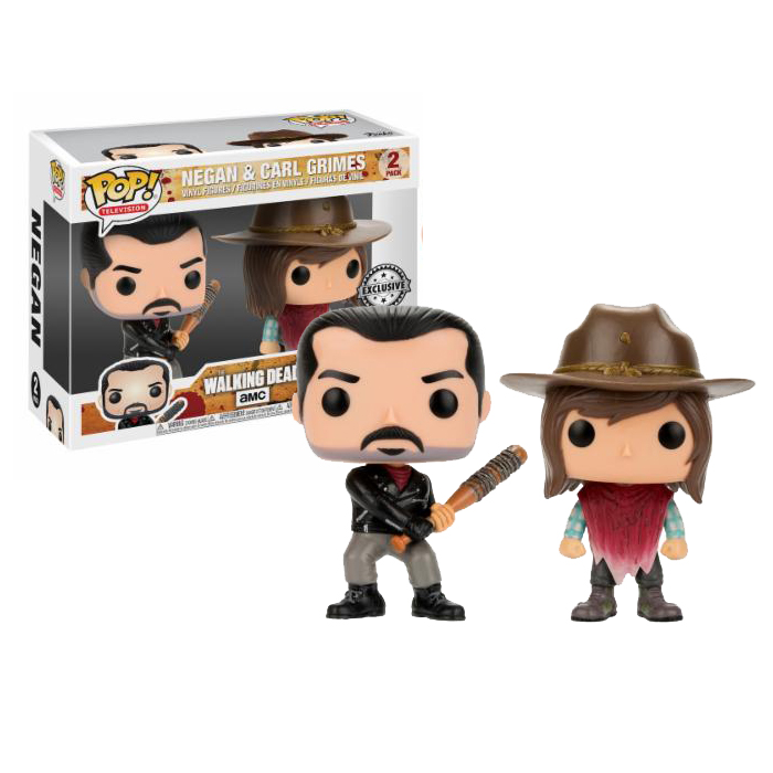 Negan and Carl 2pack Exclusive Funko Pop
