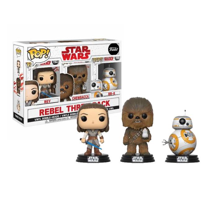 Rebel Three Pack Star Wars Funko Pop
