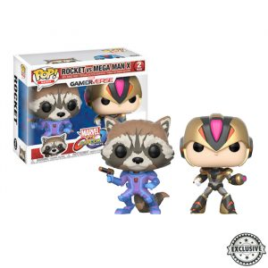 Rocket vs Mega Man X Exclusive Funko Pop