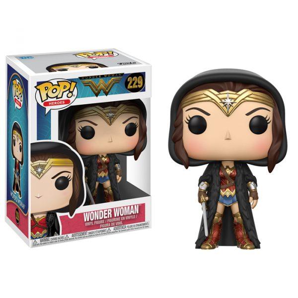 Wonder Woman Black Cloak Funko Pop