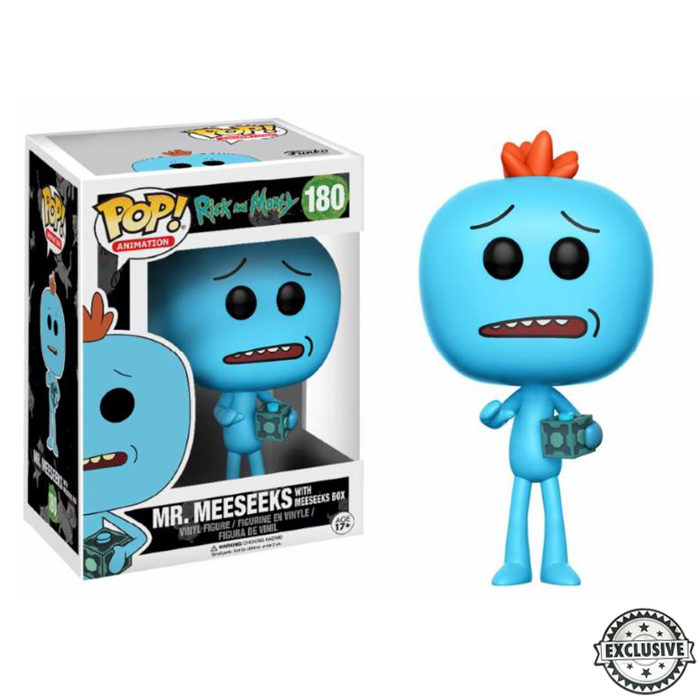 Mr Meeseeks with Box Funko Pop