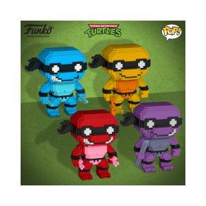 8-Bit Neon Ninja Turtle Set
