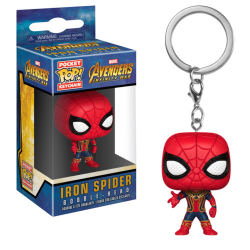 Iron Spider Pocket Pop Keychain