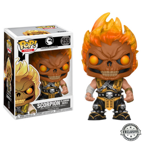 Scorpion Flaming Skull Funko Pop