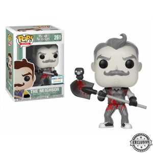 The Neighbor Black and White Bloody Funko Pop
