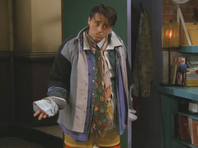Joey in Chandler clothes