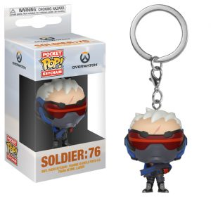 Soldier 76 Funko Pocket Pop Keychain
