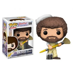 Bob Ross with Paintbrush Funko Pop