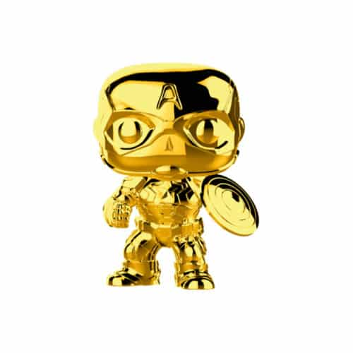 Captain America Gold Chrome Funko Pop