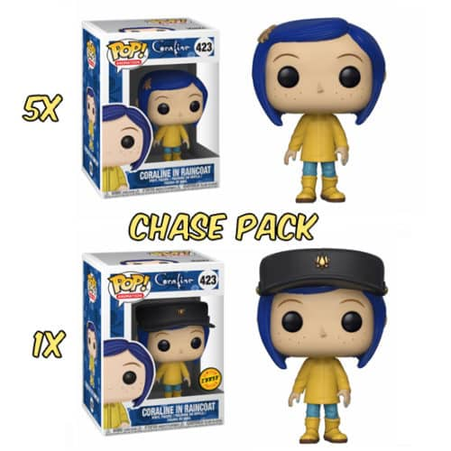 Coraline in Raincoat Chase Pack Funko Pop