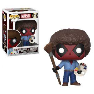Deadpool as Bob Ross Funko Pop