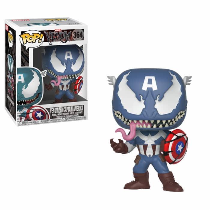 Venom Captain America Funko Pop