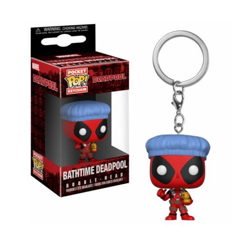 Bathtime Deadpool Keychain