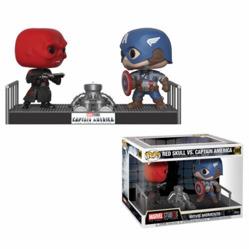Captain America vs Red Skull Movie Moment Funko Pop