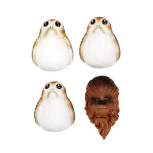Chewbacca and Porgs Magneet Set
