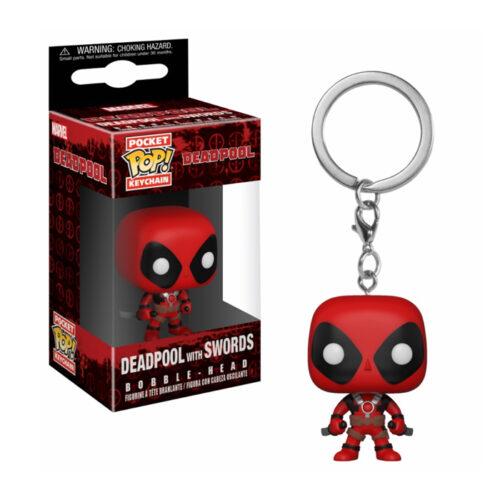 Deadpool with Swords Keychain