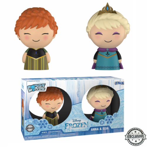Elsa and Anna Frozen Dorbz 2-pack
