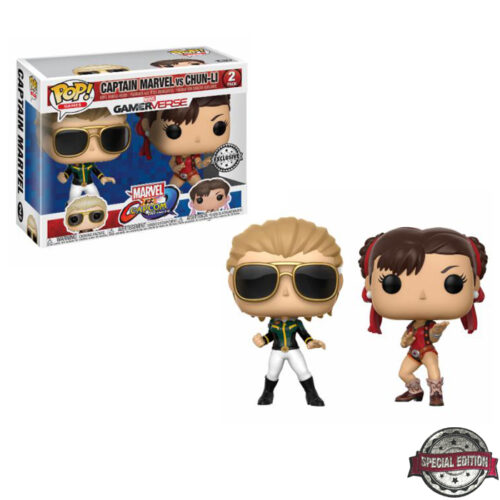 Captain Marvel vs Chun Funko Pop 2-pack