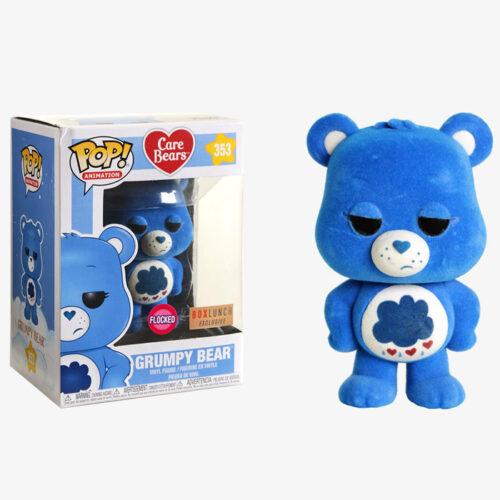 Grumpy Bear Flocked Funko Pop