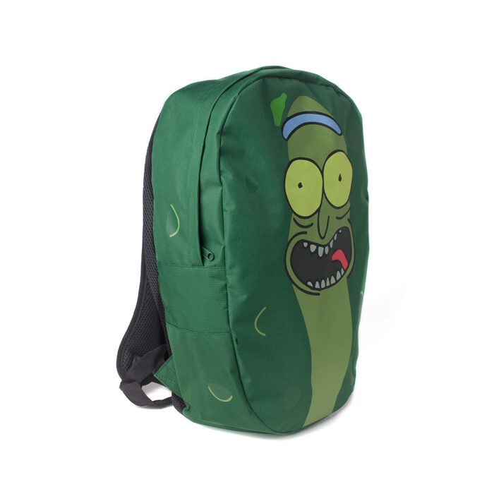 Pickle Rick Shaped Backpack