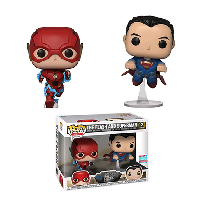The Flash and Superman Funko Pop