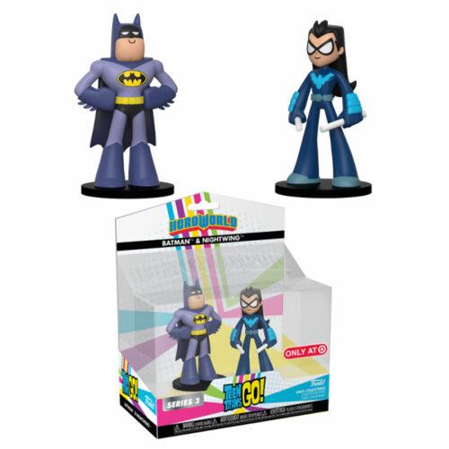Batman & Nightwing Teen Titans Go HeroWorld Funko 2-pack