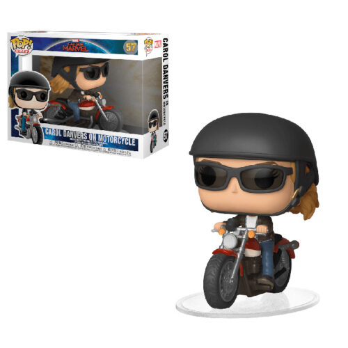 Carol Danvers On Motorcycle Captain America Funko Pop Rides