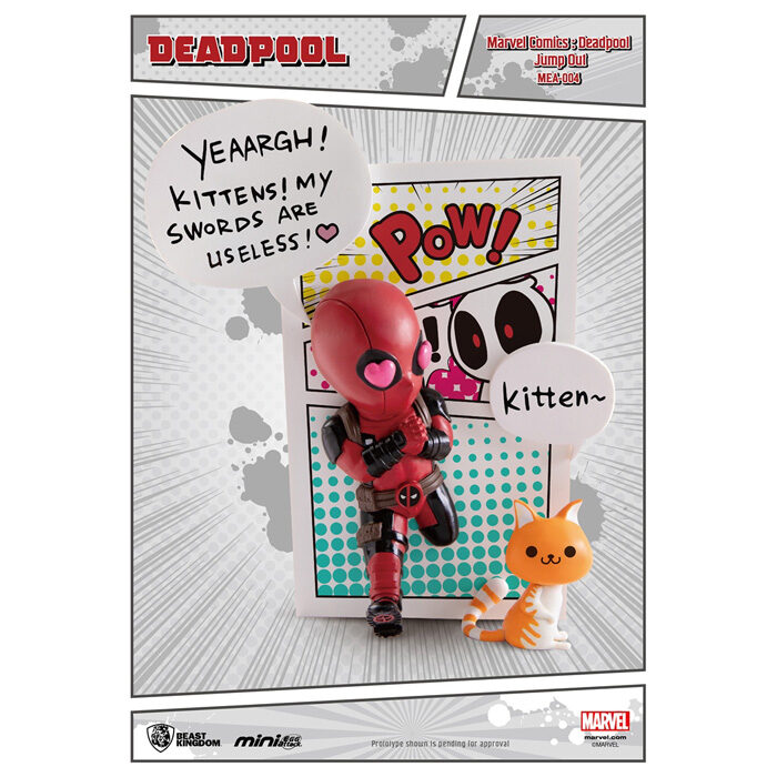Deadpool Jump Out 4th Wall Figure Mini Egg Attack Marvel Beast Kingdom