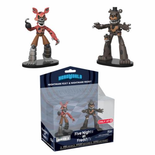Nightmare Foxy & Freddy Funko HeroWorld 2-pack