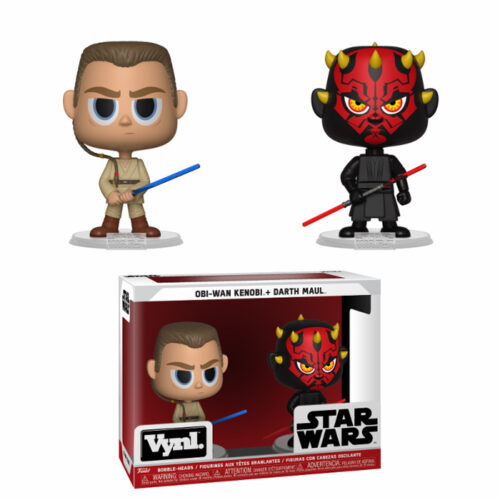 Obi-Wan Kenobi and Darth Maul Vynl Funko 2-pack