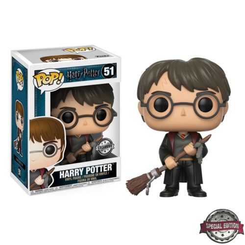 Harry Potter with Firebolt & Feather Exclusive Funko Pop
