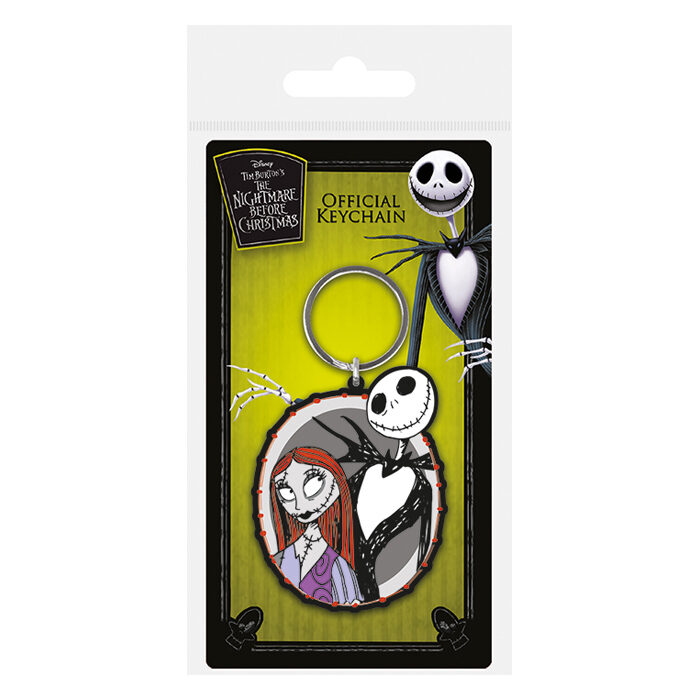 Jack and Sally Rubber Keychain