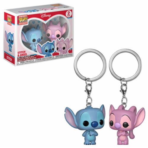 Stitch & Angel Funko Pocket Pop Keychain