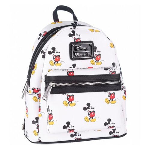 Mickey AOP White Mini Backpack