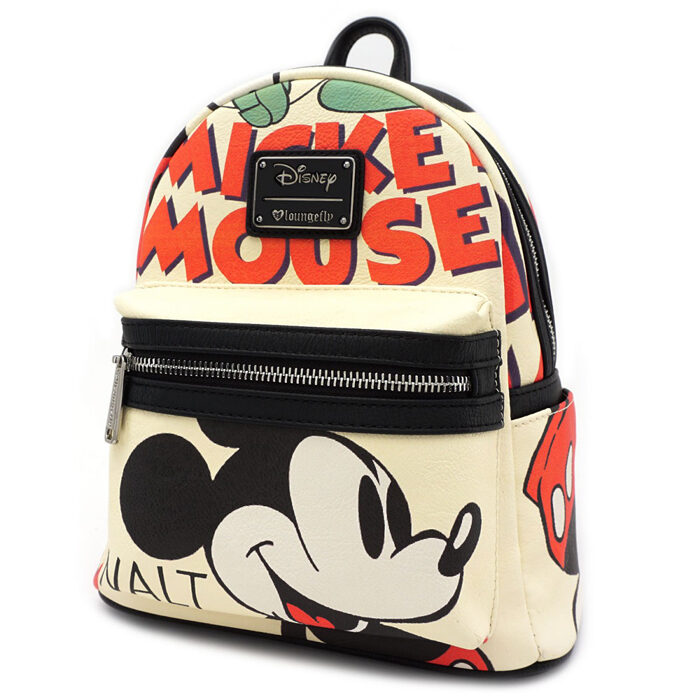 Mickey Mouse Classic Print Mini Backpack Loungefly