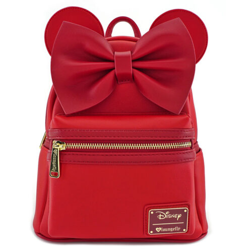 Minnie Mouse Bow & Ears Red Mini Backpack Loungefly