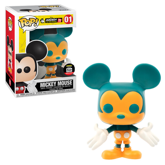 Mickey Mouse ORANGE & TEAL Funko Pop