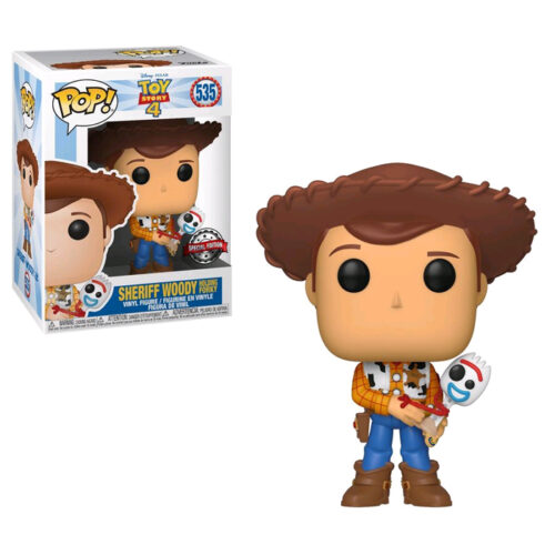 Sheriff Woody with Forky Exclusive Funko Pop Toy Story