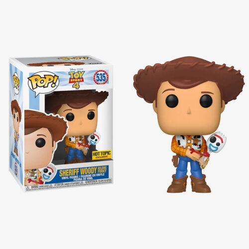 SHERIFF WOODY HOLDING FORKY Funko Pop