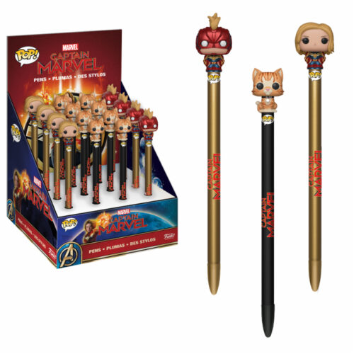 Captain Marvel Pen Toppers